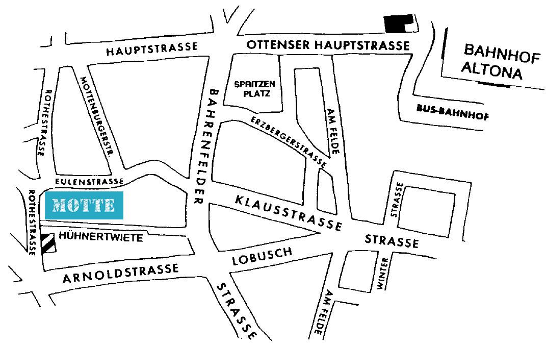 Karte von der Umgebung der MOTTE