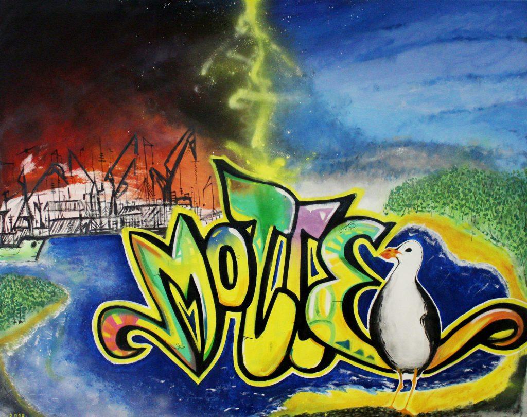 Graffittibild aus dem Jugendbereich