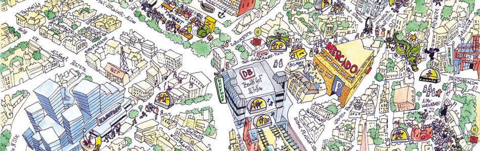 Illustration vom Stadtteil Ottensen